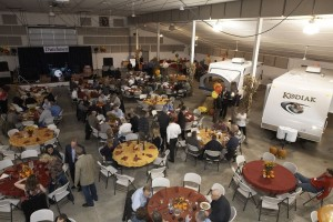 Dealers enjoy dinner during Dutchmen's open house