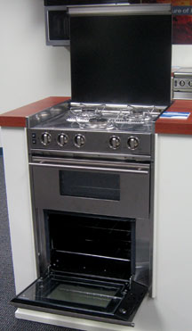 3-burner oven with broiler