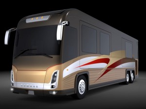 An artist's rendering of the 2011 Newell Coach.