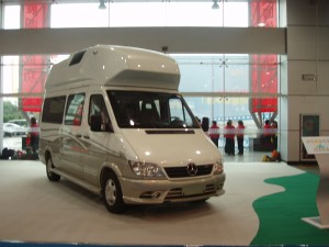 Chinese-made camper van built on a Sprinter chassis.