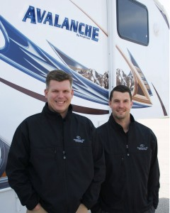 Scott Parkhurst (left), product manager, Keystone Avalanche and Ryan Juday, Keystone Alpine/Avalanche general manager.