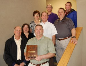 Winnebago Industries Inc. Corporate Safety Committee display the award their company received.