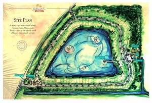 The site plan for Golden Palms Motorcoach Estates