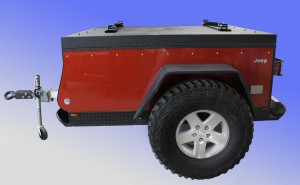 Livin' Lite folding camping trailer it will build in partnership with Chrysler Jeep vehicles.