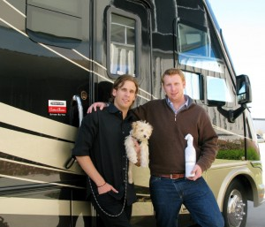 Carlo and Dante with their Avanto motorhome
