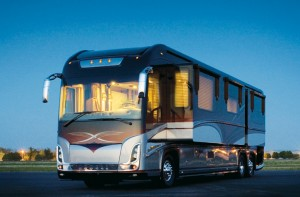 2011 Newell Coach models were freshened up with upgrades to the front caps, rear body trim, taillights and interior decor.