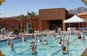 Water aerobics at The Springs at Borrego RV Resort