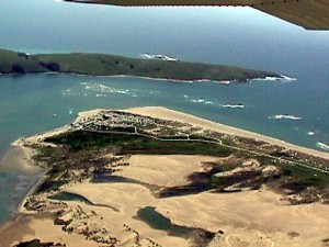 Aerial view of Lawson's Landing, Marin County, Calif.