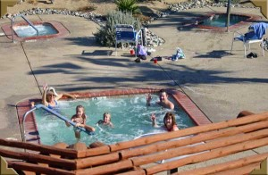 The spa at Springs at Borrego RV Resort