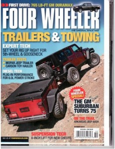Livin' Lite trailer on cover of Four Wheeler magazine.