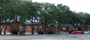 Existing park model cabins at The Vineyards Campground, Grapevine, Texas.