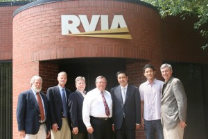 Chinese business leaders visit with RVIA staff.