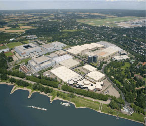 The exposition complex, site for the annual Caravan Salon in Dusseldorf, Germany.