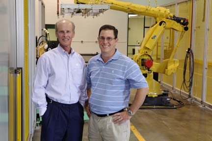 Dicor President Gregg Fore (left) and