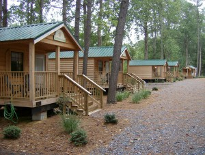 Tall ines Campground, one of the parks featuring park models built by Pinnacle Park Homes