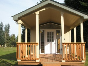 Entrance to the Toutle River RV resort's first ADA-friendly park model. Photo taken from the resort's Flickr site.
