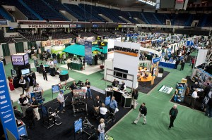 Supplier booths at the National RV Trade Show