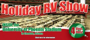 LaMesa RV show inside University of Phoenix stadium