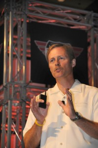 John Draheim addressing 2010 Fleetwood dealer conference