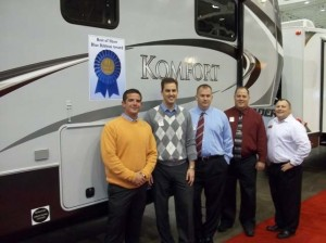 From Left To Right Rob Groover, General Manager  - Komfort and Infinity Brands of Dutchmen RV Loren Baidas  President General RV Center Ken Walters  General RV Center Tim Nicholson  GM General RV Center Akron OH Kevin Finn  Product Manager - Komfort and Infinity Brands of Dutchmen RV