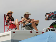 Race fans at the Daytona International Speedway