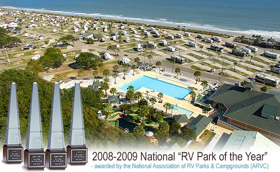 Aerial view of Ocean Lakes Family Campground, Myrtle Beach, S.C.