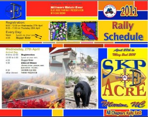 Escapees' rally brochure cover