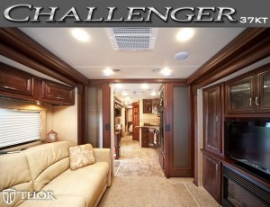 Interior of the new Challenge 37KT by Thor Motor Coach