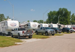 Grand RV Center provided six trailers for display