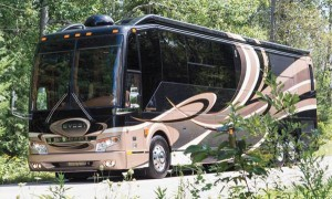 45-foot quad-slideout Prevost model