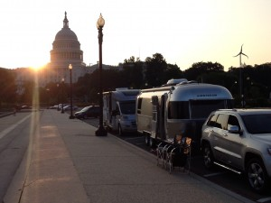 RVIA brought an Airstream and a Winnebago to Capitol Hill to help educate members of the U.S. Congress July 23, 2014.