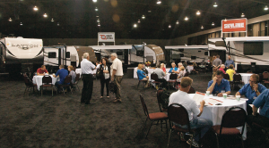 Dealers and Skyline sales personnel confer at the company's first dealer meeting since before the Great Recession.