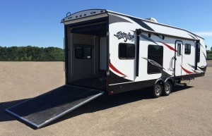 New Stryker toy hauler from Cruiser RV
