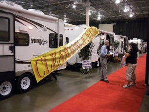Business was steady at last year's Detroit Camper & RV Show
