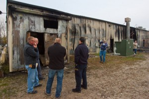Better Way workers assess fire damage