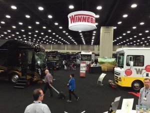 Dealers examine product at Winnebago's Louisville exhibit