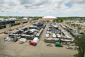Aerial shot of FMCA Reunion in Madison, Wis. (Photo by Andy Manis)