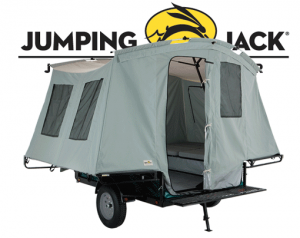 Jumping Jack trailer converts to camper