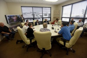 Rep. Jackie Walorski meets with leaders from the Elkhart RV and boating industries (Photo by J. Tyler Klassen)